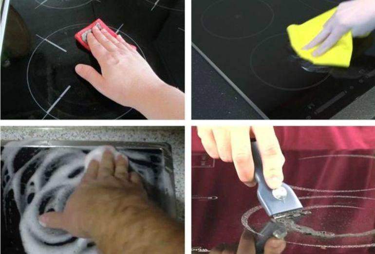 kaip plauti stiklinę keraminę viryklę
