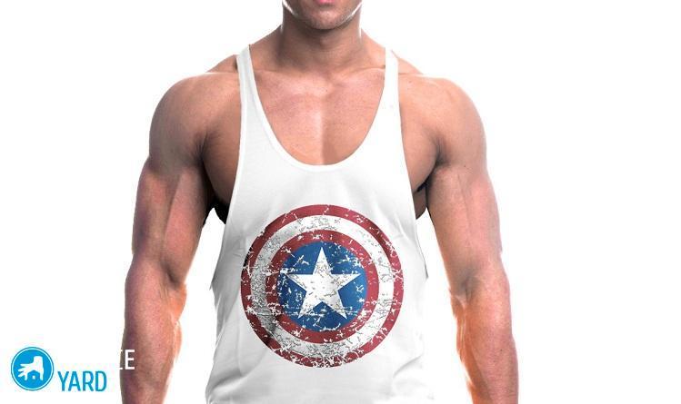 muscleguys-marka-kapitan-amerika-trenazhernyie-zalyi-vêtements-bodibildingu-stringer-mayka-fitnes-zhilet-hlopka-mayku-bez-rukavov